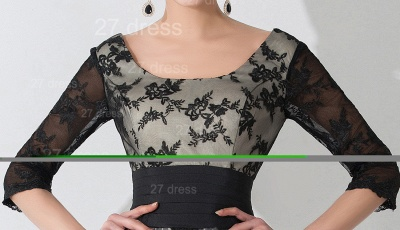 Newest Lace Appliques Tulle Evening Dress UK Half Sleeve_2