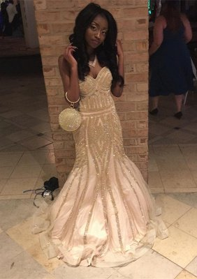 Sweetheart Prom Dress UK | Mermaid Sequins Long Evening Gowns_1