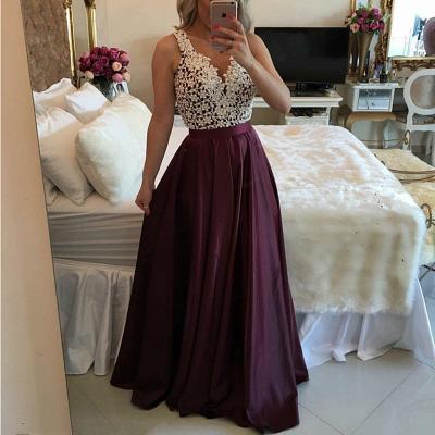 Luxury Sleeveless Lace Evening Dress UK Floor Length BT BA3697_3