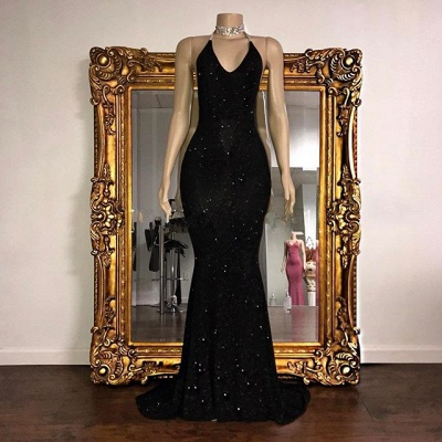 Mermaid Stunning Spaghetti-strap Sequined Sleeveless Long Prom Dress UK SP0311_4