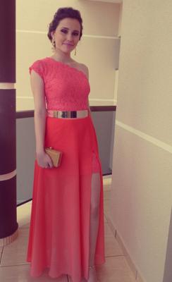 New Arrival Elegant Lace Long Vestidos Prom Dress UKes UK Chiffon One Shoulder Formal Evening Gowns_2