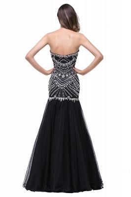 Gorgeous Crystals Black Mermaid Prom Dress UK Sweetheart Sleeveless Zipper_5