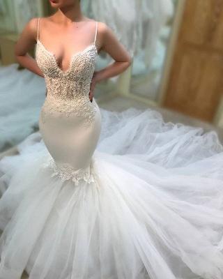 Elegant V-Neck 2019 Wedding Dress | Lace Sexy Mermaid Long Bridal Gowns_3