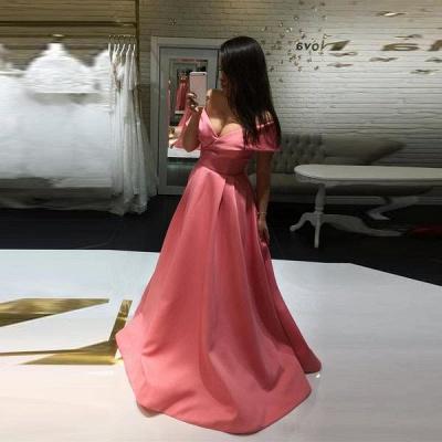 Elegant Off-the-shoulder A-line Prom Dress UK | Simple Prom Dress UK_3