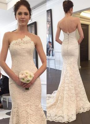 Designer Full Lace Sexy Mermaid Wedding Dress Long Bridal Gowns_1