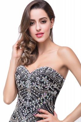 Gorgeous Crystals Black Mermaid Prom Dress UK Sweetheart Sleeveless Zipper_4