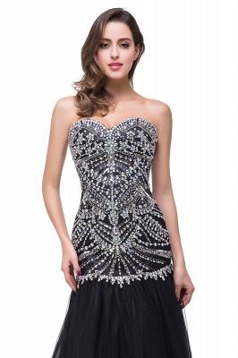 Gorgeous Crystals Black Mermaid Prom Dress UK Sweetheart Sleeveless Zipper_3