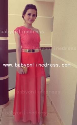New Arrival Elegant Lace Long Vestidos Prom Dress UKes UK Chiffon One Shoulder Formal Evening Gowns_1