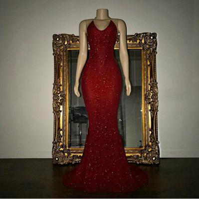 Mermaid Stunning Spaghetti-strap Sequined Sleeveless Long Prom Dress UK SP0311_7