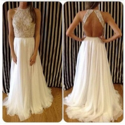 Charming Backless Crew Neck Prom Dress UKes UK Long Chiffon Sleeveless Evening Gowns With Beadings_1
