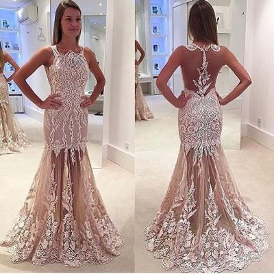 Luxury Sleeveless Designer Prom Dress UK Mermaid Lace Tulle Sheer Skirt BA4885_3