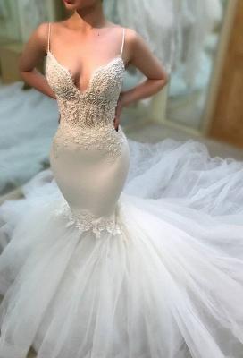 Elegant V-Neck 2019 Wedding Dress | Lace Sexy Mermaid Long Bridal Gowns_1
