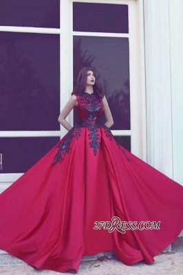 Black Long-Train Lace Red Evening Sleevess Sexy Sexy High-Neck Dress UKes UK MH078 BA3924_1