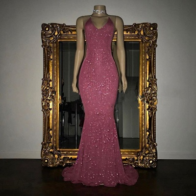 Mermaid Stunning Spaghetti-strap Sequined Sleeveless Long Prom Dress UK SP0311_6