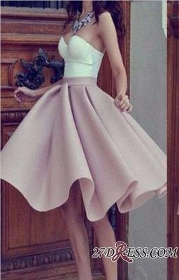 Short Hot Sleeveless Strap Sweetheart Sweetheart A-line Homecoming Dress UK_2