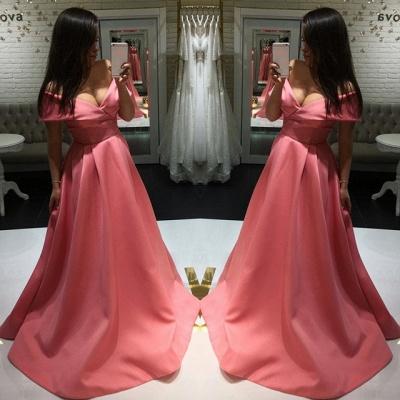 Elegant Off-the-shoulder A-line Prom Dress UK | Simple Prom Dress UK_4