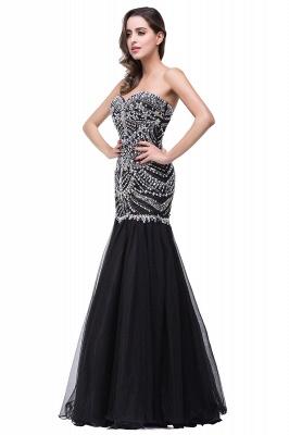 Gorgeous Crystals Black Mermaid Prom Dress UK Sweetheart Sleeveless Zipper_6
