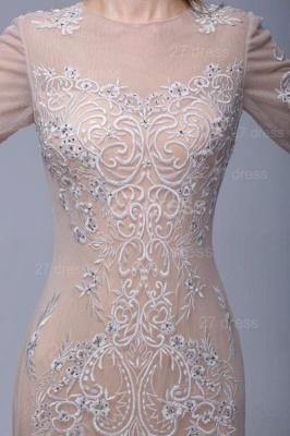 Newest Long Sleeve Floor-length Evening Dress UK Lace Appliques_4
