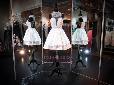 Delicate High-Neck Sleeveless A-line Beads Mini Homecoming Dress UK_1