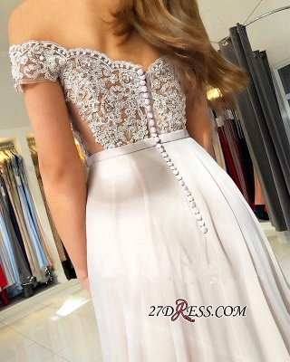 Sexy Chiffon Long Prom Dress UK   Off-the-Shoulder Lace-Appliques Evening Dress UK_2