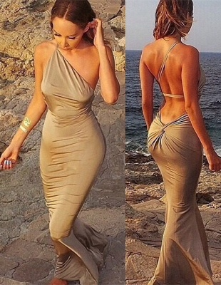 Elegant Sleeveless Mermaid Prom Dress UKes UK Floor Length Beach Dress UK_1