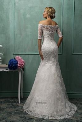 Elegant Strapless Sleeveless Lace Sexy Mermaid Wedding Dress Detachable Half-sleeve_3
