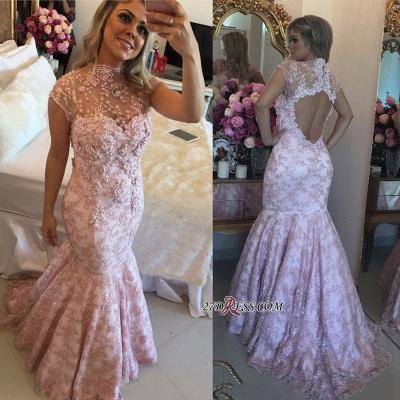 Pink lace evening Dress UK, mermaid prom Dress UK_2
