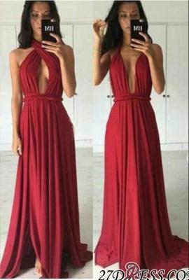Convertible Sleeveless Chiffon Long Charming Prom Dress UK BA5242_2