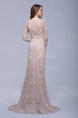 Newest Long Sleeve Floor-length Evening Dress UK Lace Appliques_2
