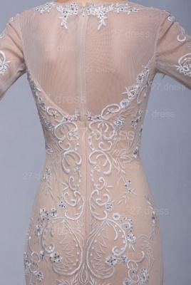 Newest Long Sleeve Floor-length Evening Dress UK Lace Appliques_3