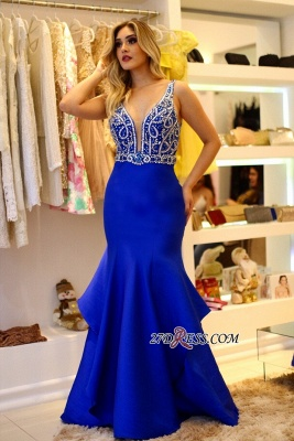 Royal blue evening Dress UK, beadings prom Dress UK online_3
