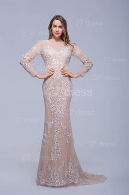 Newest Long Sleeve Floor-length Evening Dress UK Lace Appliques_1