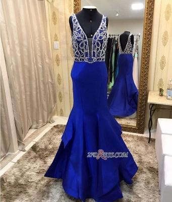 Royal blue evening Dress UK, beadings prom Dress UK online_1