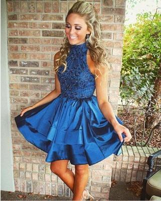 Luxury Green Sleeveless Short Prom Dress UK Beadings Mini Homecoming Gown HT102_5