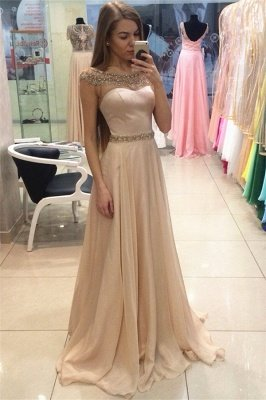 Gorgeous Jewel Long Evening Dress UK Chiffon Crystal Floor Length_1