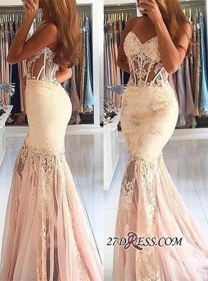 Long Appliques Stunning Sweetheart Lace Mermaid Prom Dress UK BA7225_2