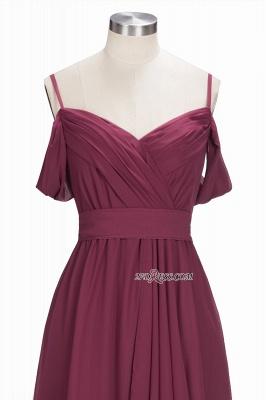 Off-the-Shoulder Chiffon Bridesmaid Dress UK | Long Wedding Party Dress UK_6