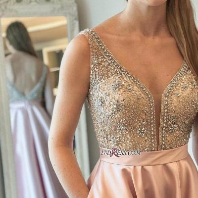 Brilliant V-neck Prom Dress UKes UK WIth Crystals Online_2