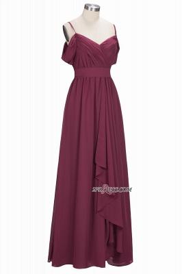 Off-the-Shoulder Chiffon Bridesmaid Dress UK | Long Wedding Party Dress UK_4