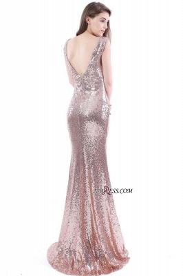 Mermaid V-Neck Simple Sequins Long Evening Dress UKes UK_4