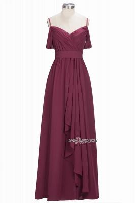 Off-the-Shoulder Chiffon Bridesmaid Dress UK | Long Wedding Party Dress UK_2
