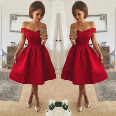 Sexy Red Off-the-Shoulder Homecoming Dress UK | 2019 Short Prom Dress UK_3