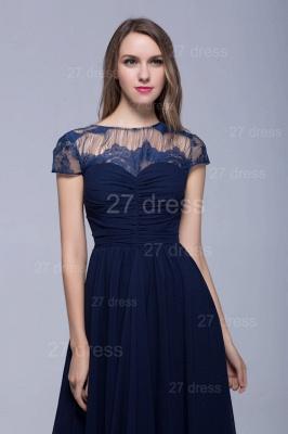 Modern Illusion Cap Sleeve Evening Dress UK Chiffon Lace Bowknot_4