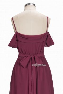 Off-the-Shoulder Chiffon Bridesmaid Dress UK | Long Wedding Party Dress UK_5
