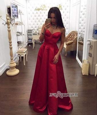 Red Gorgeous A-Line Spaghetti-Straps Sweetheart Evening Dress UK BA5003_1