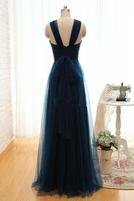 Sexy Sleeveless Evening Dress UK Long Tulle Floor Length_3
