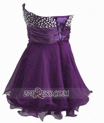 Sexy Sweetheart Sleeveless Short Homecoming Dress UK Crystals Lace-up Chiffon Purple Cocktail Gown_3