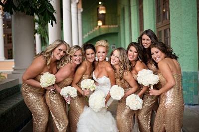 Gorgeous Mermaid Side Split Bridesmaid Dress UK Sleeveless Sequins_2