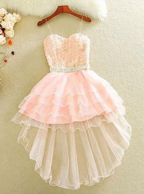 Lovely Sweetheart Homecoming Dress UK Short With lace and Beads_3