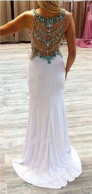 Gorgeous Beadings Crystal V-Neck Evening Dress UK Sleeveless Long Party Gowns_3